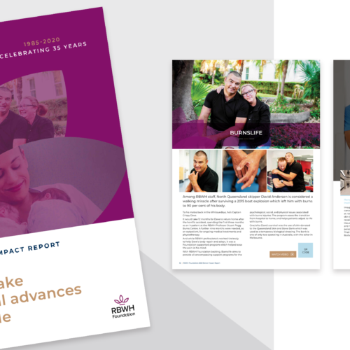 RBWH Foundation donor impact report design